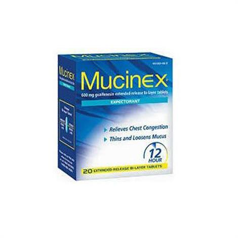 Mucinex Guafenesin Cold And Cough Relief Tablets,1200mg Strength,14/Pack,28/Case,63824002336