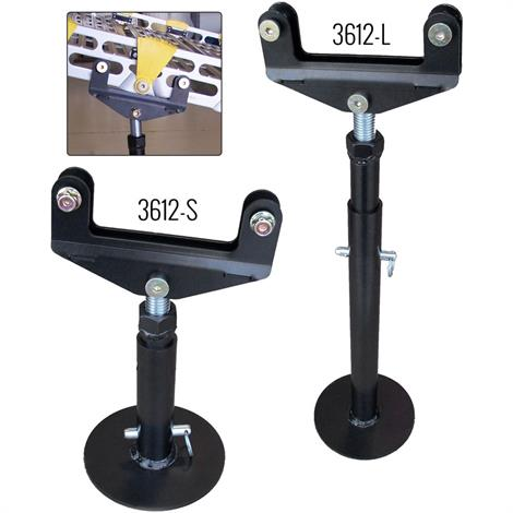 "Roll-A-Ramp Center Support Stands,Long,Adjusts 14"" to 27"",Pair,G3612-L"