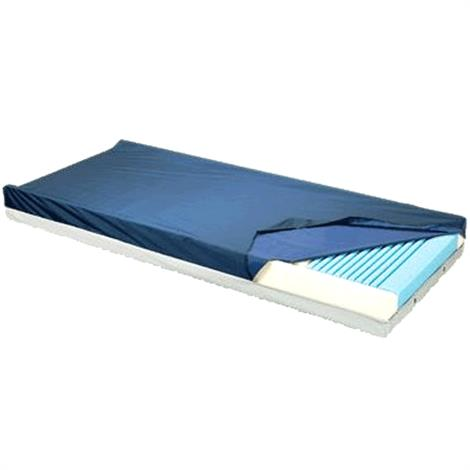 """Graham-Field Gold Care Foam Mattress,75"""" x 35"""" x 6"""",with DPM and Heel slope,Each,41675PH-1633"""