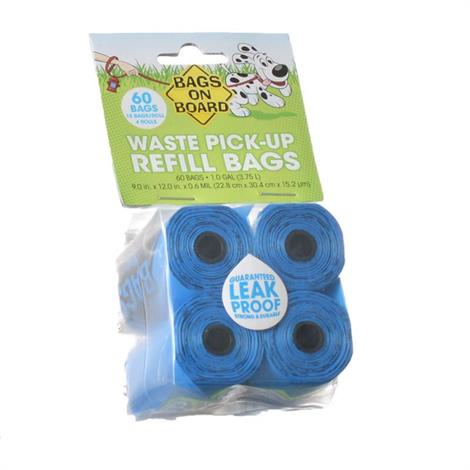 Bags on Board Waste Pick Up Refill Bags - Blue,140 Bags,Each,3203940042