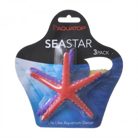 Aquatop Silicone Seastar Aquarium Ornament,3 Pack - (Assorted Colors),3/Pack,SD-MULTI04