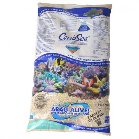 CaribSea Arag-Alive Live Aragonite Reef Sand - Fiji Pink,20 lbs,Each,792