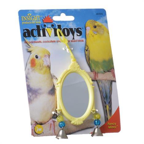 JW Insight Fancy Mirror Bird Toy - Assorted,Fancy Mirror Bird Toy - Assorted Colors,Each,31074