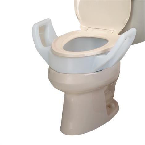 Raised Toilet Seat With Molded-In Arms,Elongated,Each,NC28966-1