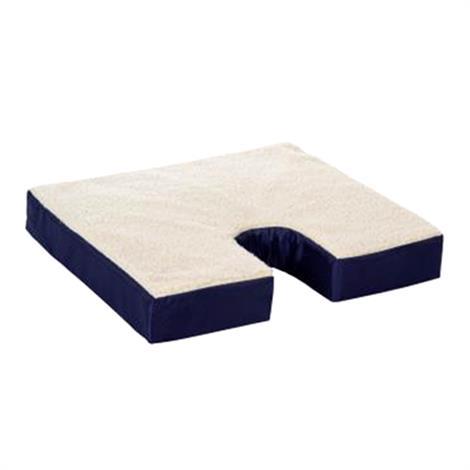 """Essential Medical Fleece Covered Gel Wheelchair Cushions,Coccyx Cushion,18""""L X 16""""W X 3""""H,Each,D4101"""