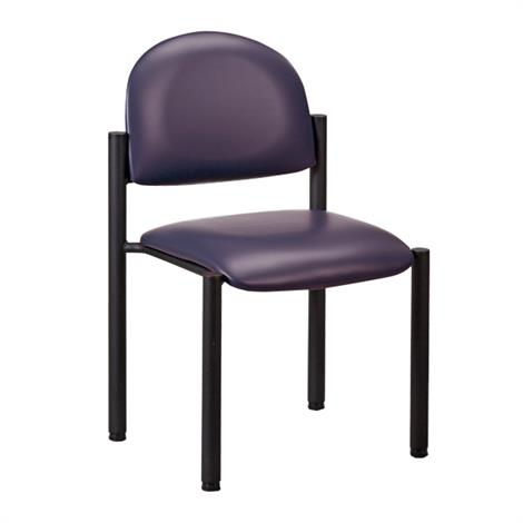 Clinton Black Frame Side Chair with Wall Guard and No Arms,Allspice (3AS),Each,C-40B