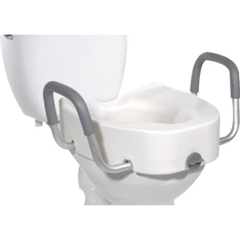 Graham-Field Lumex Locking Raised Toilet Seat With Removable Armrests,Lumex Locking Raised Toilet Seat,2/Case,6487RA