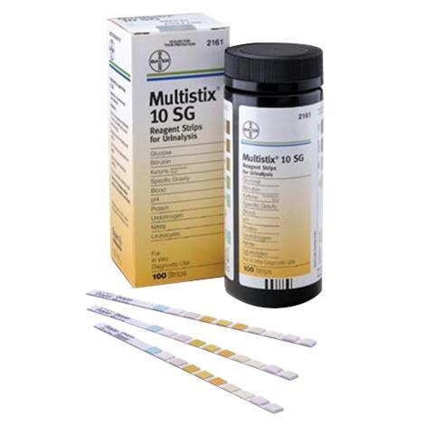 Bayer Multistix 10 SG Reagent Urinalysis Test Strips,Urinalysis Test Strips,100/Pack,2161