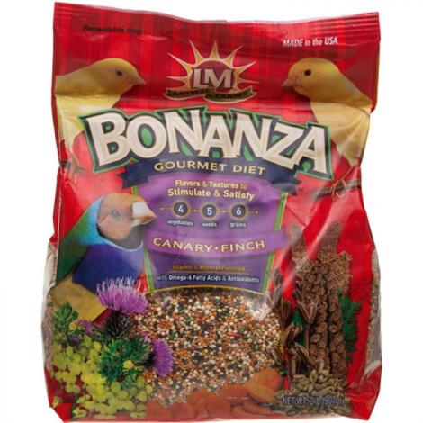 LM Animal Farms Bonanza Canary & Finch Gourmet Diet,2 lbs,Each,12209