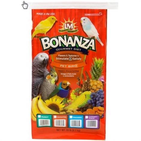 LM Animal Farms Bonanza Parkeet Gourmet Diet,2 lbs,Each,2288