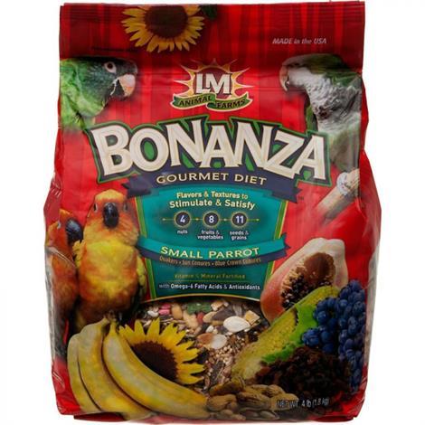 LM Animal Farms Bonanza Small Parrot Gourmet Diet,4 lbs,Each,2291
