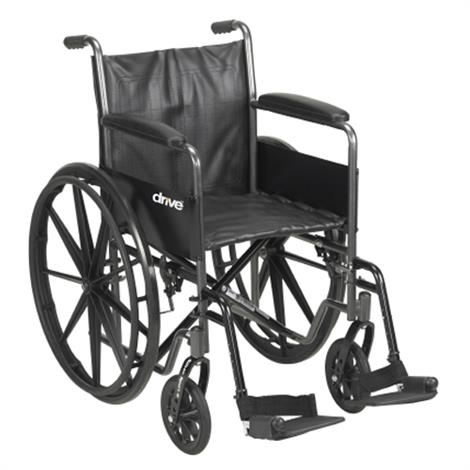 McKesson Standard Wheelchair With Fixed Arms,Swing Away Elevating Footrests,Each,146-SSP218FA-ELR