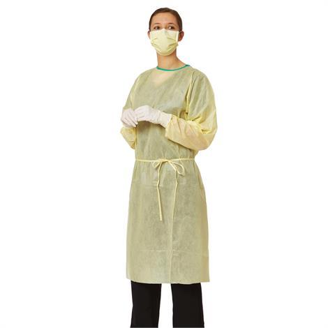 Medline AAMI Level 2 Isolation Gowns,Elastic Wrists,Regular,100/Case,NONLV200