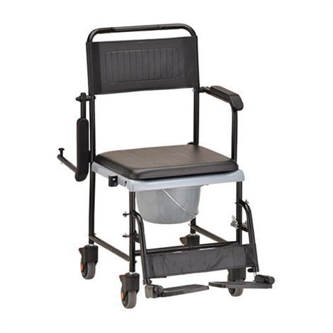Nova Medical Drop Arm Transport Chair Commode With Wheels,Transport Chair Commode,Each,8805