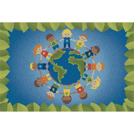 "Childrens Factory Eco-Kids Rugs,Rectangle,Large,144"" x 96"",Each,CPR3050"