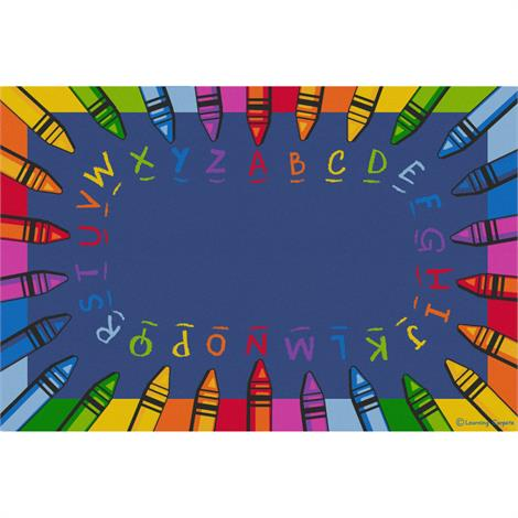 "Childrens Factory Alphabet Crayon Educational Rugs,Large,144"" x 96"",Each,CPR3022"