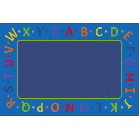 "Childrens Factory Alphabet Border Educational Rugs,Large,144"" x 96"",Each,CPR3018"