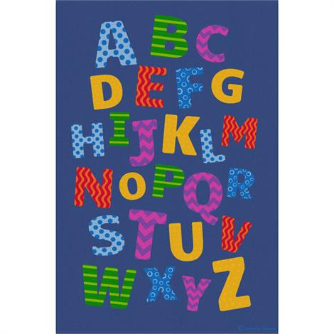 "Childrens Factory Alphabet Scramble Educational Rugs,Large,144"" x 96"",Each,CPR3004"