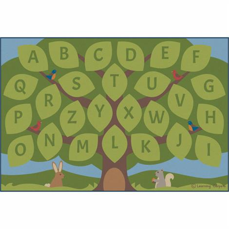 "Childrens Factory Alphabet Seating Tree Educational Rugs,Large,144"" x 96"",Each,CPR3040"