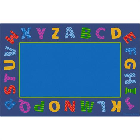 "Childrens Factory Border Alphabet Scramble Educational Rugs,Large,144"" x 96"",Each,CPR3026"