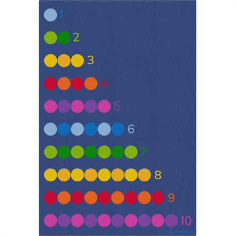 "Childrens Factory Counting Color Dots,Color Grid,Rectangle,Large,144"" x 96"",Each,CPR3008"