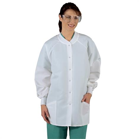 Medline Ladies ResiStat Protective Warm-Up Jackets,2X-Large,Each,MDT046883XXL