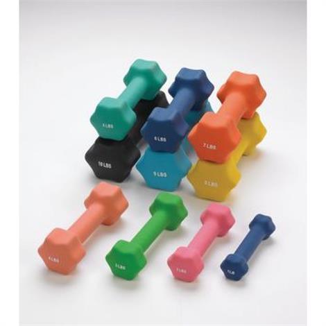 Sammons Preston Individual Neoprene Dumbbells,Neoprene Dumbbell Set,1-10lb,Each,81513878