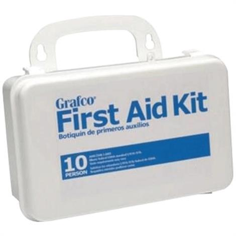 """Graham-Field Stocked First Aid Kit for 10 Persons,7-11/16"""" x 4-9/16"""" x 2-3/8"""",Each,1799-10P"""