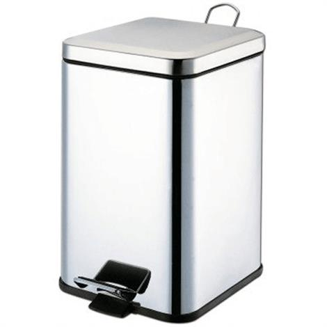 "Graham-Field Stainless Steel Waste Receptacles,10.6""L x 10.6""W x 17""H,Each,8359"
