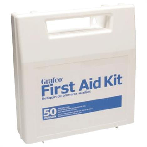 """Graham-Field Stocked First Aid Kit for 50 Persons,10-3/4"""" x 11-1/4"""" x 3"""",Each,1799-50P"""