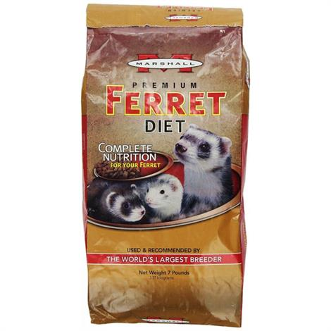 Marshall Premium Ferret Diet Bag,4 lbs,Each,FD-177