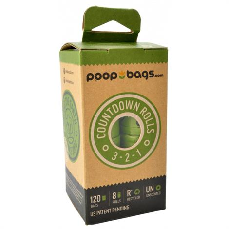PoopBags Countdown Rolls - Unscented,120 Bags (8 Rolls),Each,CDR072