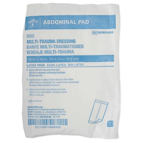 "Medline Sterile Multi-Trauma Abdominal Pads,10""W x 30""L,50/Pack,NON21459"