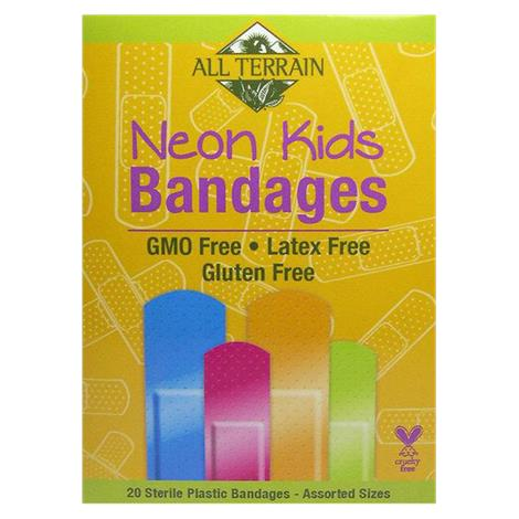 All Terrain Neon Bandages For Kids,Neon Bandages For Kids,20/Pack,ECW1545441