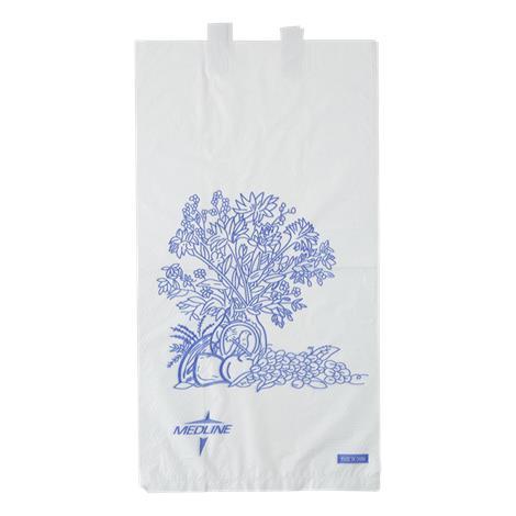"""Medline Disposable Bedside Waste Bags,White,6.5""""L x 11.8""""H x 3.5""""D,2000/Case,NON24309P"""