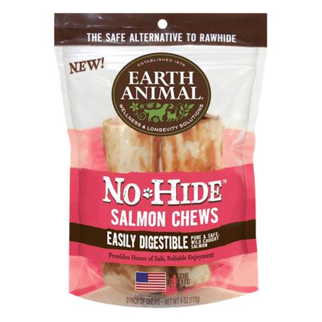 """Earth Animal No Hide Salmon Chews Dog Treats,24 Count Counter Box Of 4"""" Long,Each,854000000000 - from $114.88"""