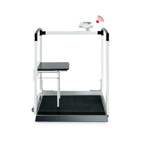 """Seca Digital Multifunctional Scale With Handrail and Fold Up Seat,35.8""""W x 43.3""""H x 41.9""""D (910mm x 1,100mm x 1,064mm),Each,SECA684"""