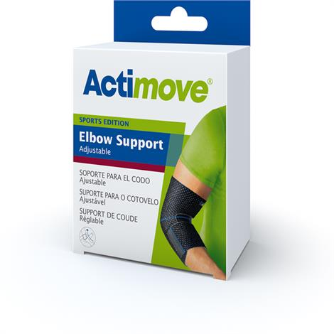 "Actimove Adjustable Elbow Support,Universal,Black,7.5"" - 14.5"",Each,7561730"