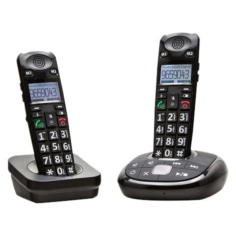 Clearsounds A700 Amplified Cordless Phone with Expansion Handset,Black,Each,A700COMBO