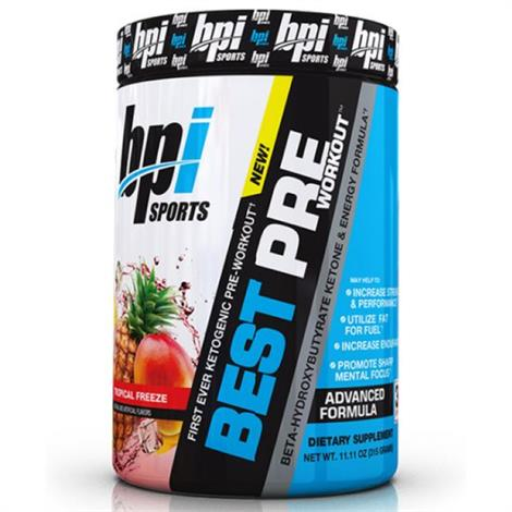 BPI Best Pre Workout Dietary ,Tropical Freeze,Each,8040221
