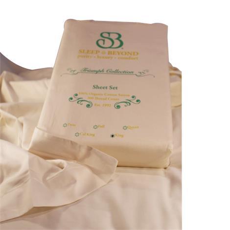 Sleep and Beyond Organic Sheet Set,Cal King,with 2 Pillowcases,Each,OCKSSI