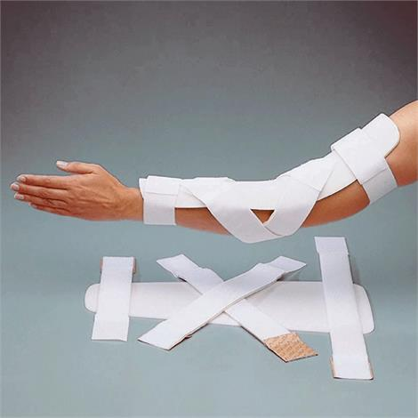 Rolyan Elbow Pre-Cut Splint,Aquaplast-T,With Strapping and Instructions,Each,A517002