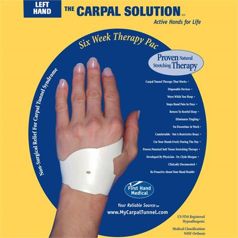 The Carpal Solution Carpal Tunnel Wrist Support,1 Year Left and Right Hand Carpal Solution Therapy Pac,112/Pack,1YRR&L