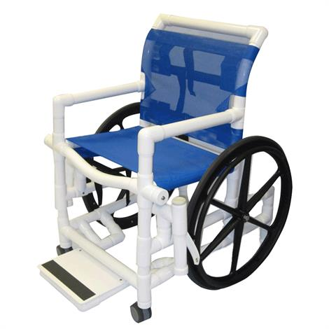 Healthline Medical Shower Wheelchair With Sling Seat,0,Each,SWC-SLING