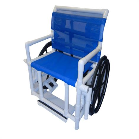 Healthline Medical Bariatric Shower Wheelchair With Sling Seat,0,Each,SWC-400