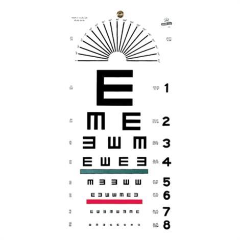 Graham-Field E Hanging Eye Chart,Eye Chart,Each,1241