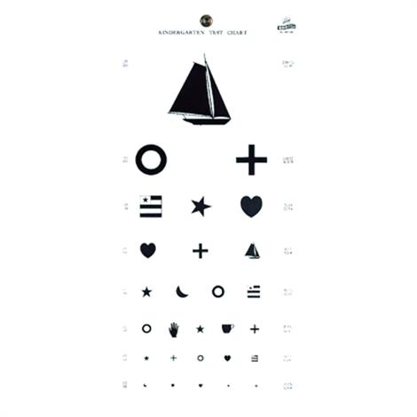 Graham-Field Kindergarten Eye Chart,Eye Chart,Each,1243