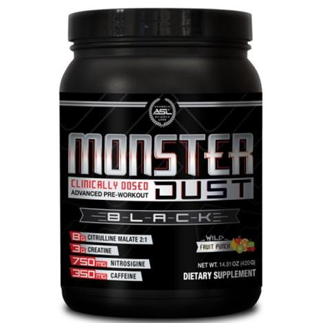 ASL Monster Dust Black Pre Workout,20 serving,14.8oz,Each,8640011