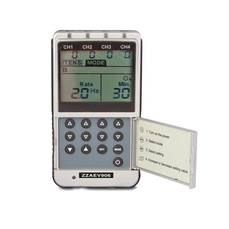 BodyMed Digital 4 Channel TENS And EMS Unit,2X Large-Without Side Lateral Panels,Each,ZZRL06312X