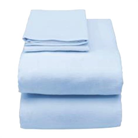 Essential Medical Hospital Bed Sheet Set,Light Blue,Each,C3058L